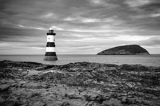 Lighthouse, Beacon, Coastline, Tower, Clouds, Nautical
