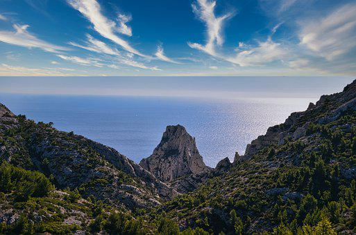 Sea, Cliffs, Cove, Landscape, Coast, Coastline