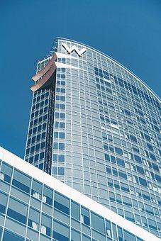 Hotel, Building, Facade, Glass, Modern, Coast
