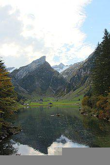 Lake, Mountains, Countryside, Water, Water Reflection