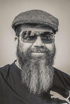 Man, Adult, Portrait, Beard, Bearded Man, Shades