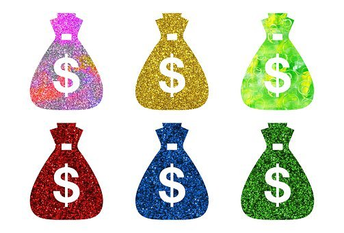 Money, Money Bags, Dollars, Glitters, Pattern