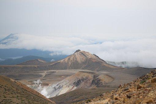 Mountains, Volcano, Desert, Mountain Range, Mountainous