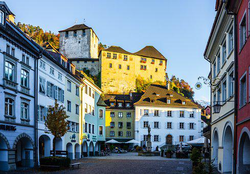 Castle, Buildings, Town, Street, Fortress, Museum