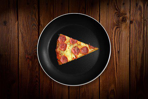 Pizza, Slice, Plate, Flat Lay, Piece, Piece Of Pizza