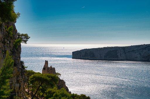 Sea, Cliff, Cove, Landscape, Seascape, Horizon, Ocean