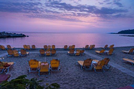 Beach, Deck Chairs, Coast, Coastline, Shore, Seashore