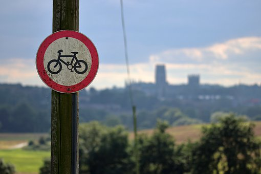 Bicycle, Sign, Street Sign, Cycling, Lane, Allowed