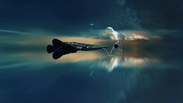 Spaceship, Space, Universe, Cosmos, Stars, Fantasy