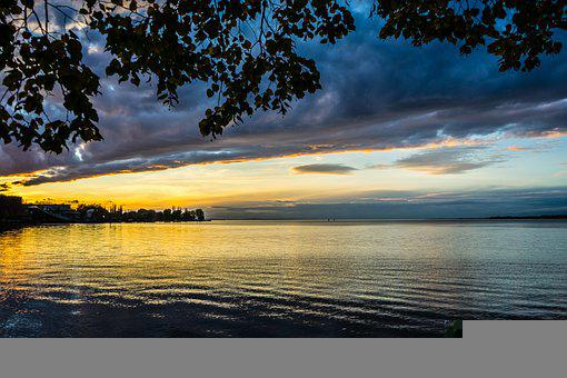 Lake Constance, Sunset, Evening, Bregenz, Vorarlberg