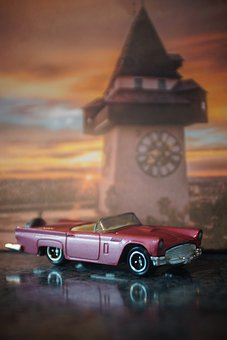 Auto, Toys, Clock Tower, Miniature, Landmark, Tower
