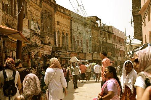 Street, Road, People, Crowd, Buildings, City, Urban