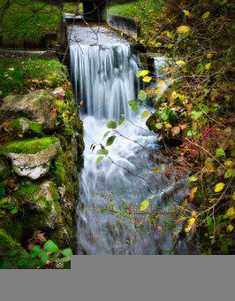 Waterfall, Cascade, Stream, Brook, Water, Nature