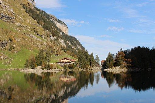 Lake, Mountain, Countryside, Water, Water Reflection
