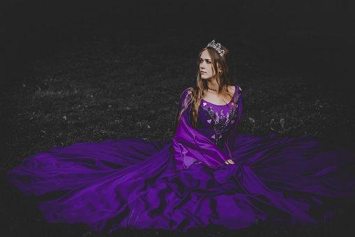Woman, Model, Princess, Dress, Crown, Smile, Young