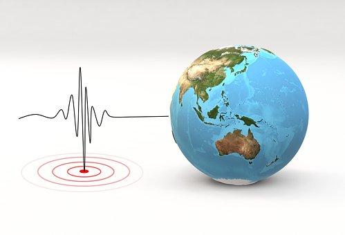 Earthquake, Pulse Line, Globe, Earth, World