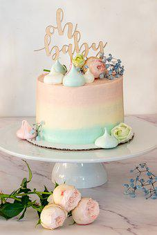 Cake, Tier, Layer Cake, Baby Shower, Celebration