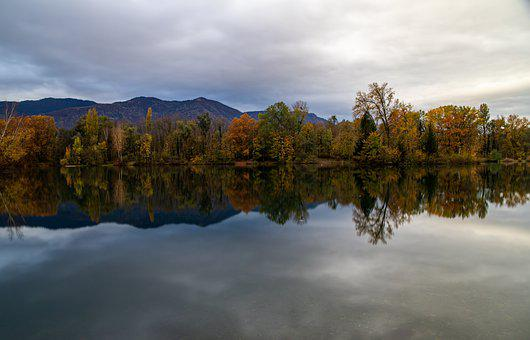 Lake, Trees, Autumn, Forest, Woods, Autumn Colors