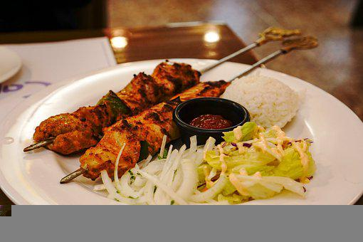 Kebab, Chicken Kebab, Skewers, Chicken, Grill, Barbeque