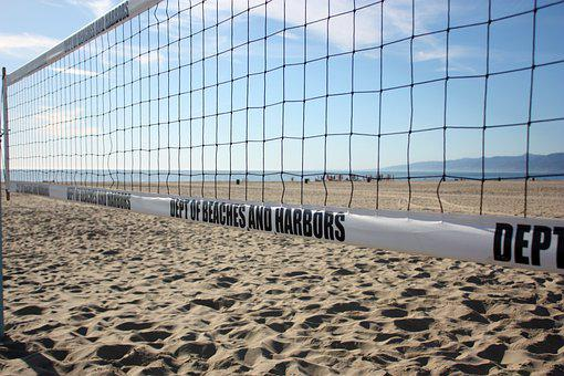 Volleyball, Net, Sand, Beach, Beach Volleyball, Game