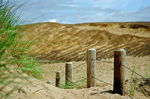 Sand, Dunes, Pathway, Ocean, Beach, Sea, Pacific