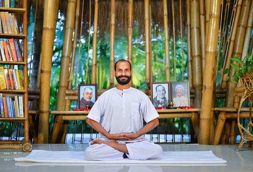 Man, Yoga, Zen, Pose, Stretch, Meditation, Room, India