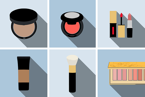 Cosmetics, Make Up, Lipstick, Brush, Foundation, Powder