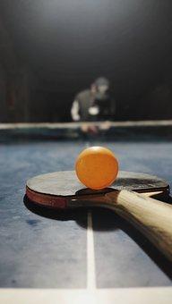 Table Tennis, Ball, Racket, Table Tennis Ball