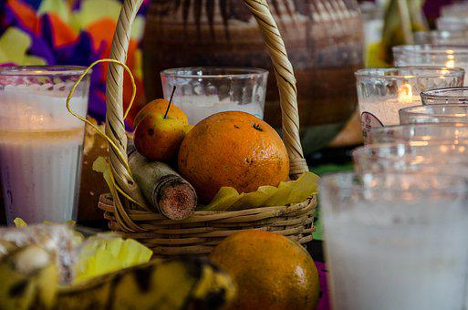 Day Of The Dead, Traditions, Offerings, Fruits, Candles