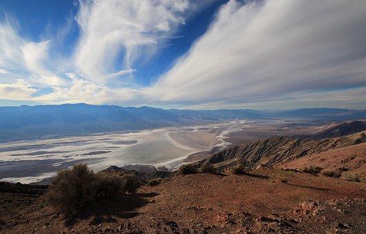 Valley, Desert, Badwater Basin, Tourist Attraction