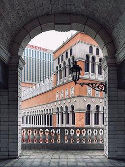 Macau, Venetian Macau, Arch, Veranda, Buildings