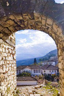 Arch, Houses, Town, Village, Stoneworks, View