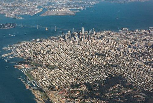 City, Skyscrapers, Urban, Aerial, Panorama