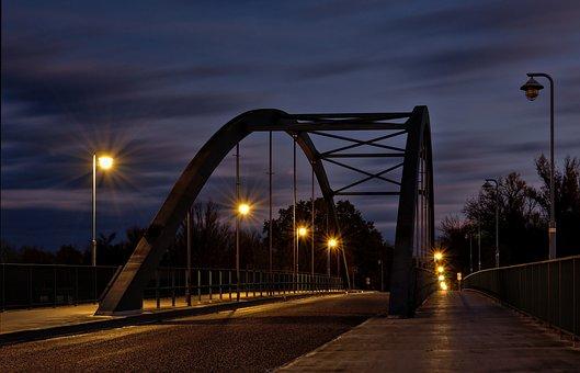 Bridge, Street, Road, Architecture, Street Lighting
