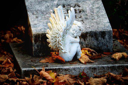 Tomb, Angel, Cherub, Grave, Statue, Sculpture