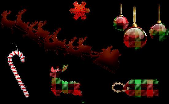 Christmas, Santa Sleigh, Christmas Decoration