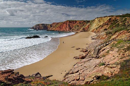 Beach, Sea, Coast, Coastline, Mountains, Cliffs, Waves