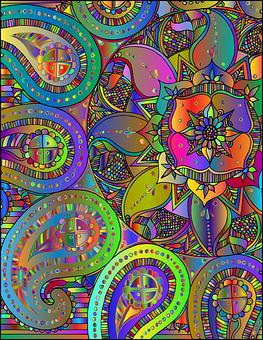 Mandala, Zentangle, Paisley, Decorative, Decoration