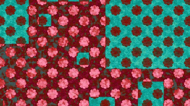 Flowers, Polka Dots, Shapes, Pattern, Square, Halloween