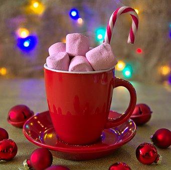 Marshmallows, Candy Cane, Mug, Ornaments, Christmas