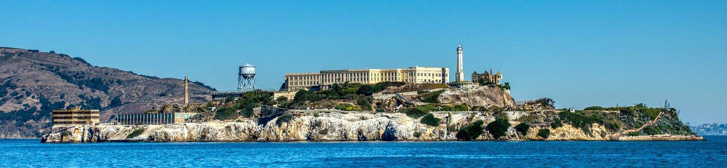 Prison, Penitentiary, Building, Sea, Ocean, Alcatraz