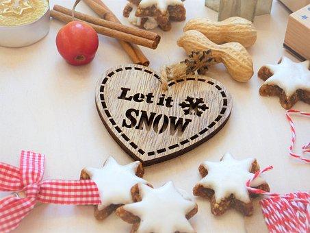 Cookies, Nuts, Stars, Cinnamon, Bake, Christmas, Advent