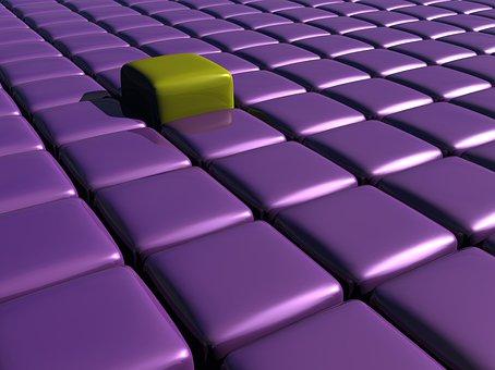 Cubes, 3d, Structure, Design, Grid, Geometry, Rendering