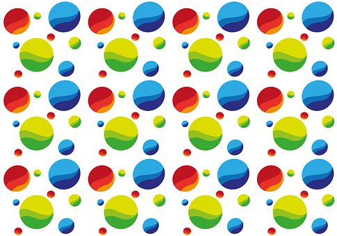 Balls, Pattern, Background, Design, Colorful, Template