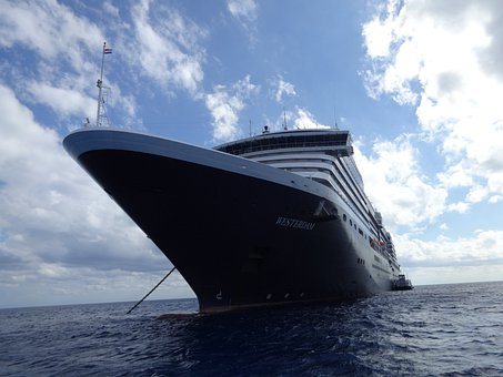 Cruise Ship, Looming, Anchored, Boat, Ship, Tradition
