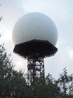 Radar Equipment, Balloon-like, White, Ball, Transmitter