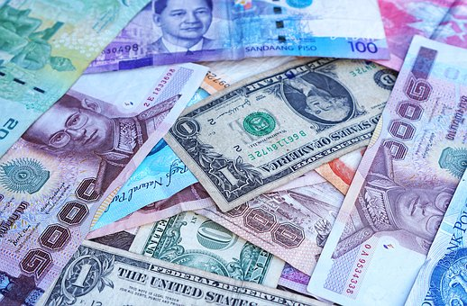 Money, Banknotes, Currency, Forex, Us Dollars, Euro