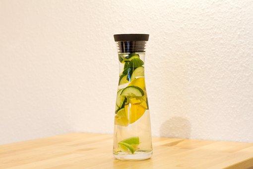 Detox, Water, Carafe, Drink, Lemon, Lime, Cucumber