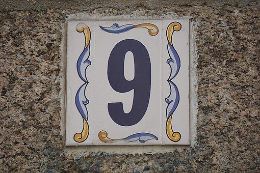 Number, Street, Address, City, Ceramic, Blue