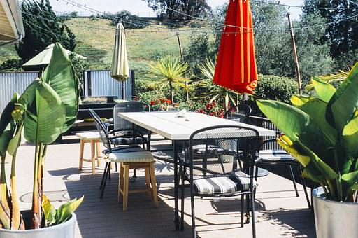 Garden, Porch, Table Furniture, Chairs, Home, House